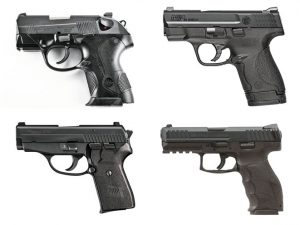 Pistols chambered in .40 cal S&W